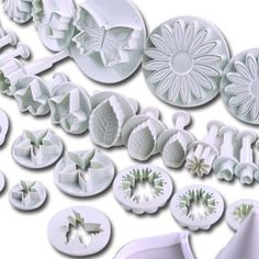 14 Sets (44 pcs) Plunger Cutters Sugarcraft Cake Decorating (Heart, Veined butterfly, Star, Daisy, Veined rose leaf, Carnation, Blossom, Sunflower, Calla Lily, Maple Leaf, Ivy, Plum Blossom, other Flower) =)