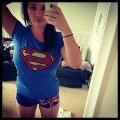 ilovesuperheroshirts:  #supergirl #superman Thanks@tahanalee87#ilovesuperheroshirts