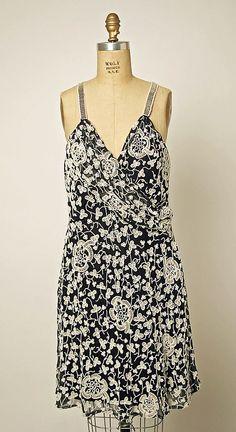 Evening dress, Giorgio Armani, fall/winter 1991-92, Italian, silk and plastic