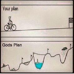 Our plan is flat lined inter words lacking life God's plan has spikes of high and low moments. There is life in it! Christian Humor, Christian Quotes, Bible Verses Quotes, Faith Quotes, Prayer Quotes, Wisdom Quotes, Quotes Quotes, Scriptures, Qoutes