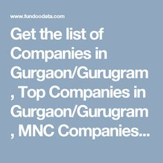 List of companies in Gurgaon / Gurugram Information Technology, Public, India, Marketing, Top, Goa India, Computer Technology, Crop Shirt, Shirts