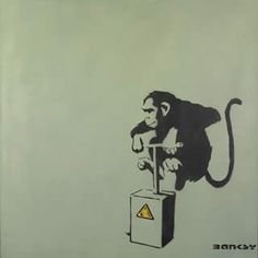 Banksy - More streetart @ www. Banksy Graffiti, Street Art Banksy, Best Graffiti, Banksy Images, Banksy Monkey, Famous Street Artists, Pop Art, Doodle, Social Art
