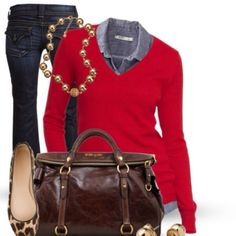 Red V-Neck Sweater Pretty v-neck sweater in red. Very versatile. Wear with jeans or with slacks. 22 inches long, 15 inch bust (armpit to armpit), 22.5 inch sleeves. First pic is for styling purposes only. Excellent condition. ❌NO TRADES❌ New York & Company Sweaters V-Necks
