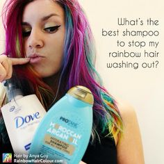 Wish you could keep your bright hair colour from washing out? Finding the solution for colour fade is the holy grail for anyone rocking bold colours. Today Katie Siepierski @katiesiepierski an educator in cosmetic science, explains the importance of ingredients and the best way to maintain your glorious rainbow mane… READ MORE HERE: https://www.rainbowhaircolour.com/best-shampoo-for-rainbow-hair/ #rainbowhair #anyagoyhaircolour #hairdressermagic #rainbowhaircolour #rainbowhairdontcare