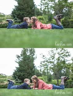 TOO cute! Mom & son poses, kisses, hanging out together. Mommy & Me Session | Portland Family Photographer, Kari Rae Photography