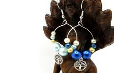 Tree of Life Mismatched Earrings - Beaded Fashion Earrings - Tree of Life Beaded Earrings Handmade Gift Tags, Handmade Items, Etsy Earrings, Drop Earrings, Tree Of Life Earrings, Earring Tree, Close To My Heart, Fashion Earrings, Lgbt