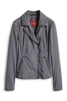 Esprit/EDC cotton biker jacket Steel Grey