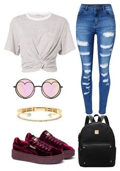 """""""Casual"""" by tbaylor06 ❤ liked on Polyvore featuring T By Alexander Wang, WithChic, Betsey Johnson, Delfina Delettrez and Puma"""