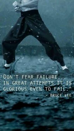 TOP MOTIVATIONAL quotes and sayings by famous authors like Bruce Lee : Don't fear the failure. in great attempts it is glorious even to fail. Wisdom Quotes, Me Quotes, Motivational Quotes, Inspirational Quotes, Daily Quotes, Qoutes, Quotes 2016, Rules Quotes, Eminem