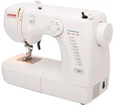 Janome Basic Easy-to-Use 128 Sewing Machine with Interior Metal Frame, Front Loading Bobbin, Compact and Portable Sewing Machine Brands, Sewing Machine Reviews, Sewing Stores, Juki, Janome, Easy To Use, Amazon Art, Footprint, Metal