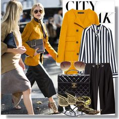 City Break by drigomes on Polyvore featuring polyvore, fashion, style, Mulberry, Zara, Calvin Klein, Giuseppe Zanotti, Chanel, Yazi and Forever 21