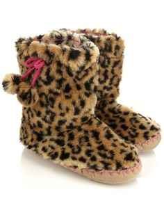 1eb2fab4ba70a Leopard Furry Slipper Boot 2952952351 €27.90 Cute Slippers