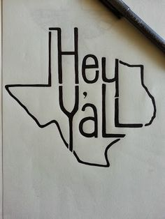 CUTE Texas state outline by Jeb Matulich http://www.junkytrinkets.com/2013/09/hey-yall-sketch.html