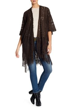 24/7 Comfort Losse Knit Poncho