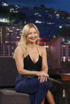 Kate Hudson visits Jimmy Kimmel
