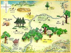 Map of the 100 acre woods - Good for setting the scene!