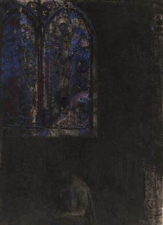 The Window by Odilon Redon