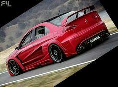 Mitsubishi EVO.. Love the Widebody Kit, hate Red!
