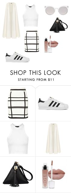 """""""she ain't fra-gile"""" by her-aesthetic on Polyvore featuring River Island, adidas, Topshop, La Mania and Kosha"""