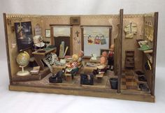 Antique German 1920s School House Wooden Doll House & Accessories PACKED FULL #Unbranded