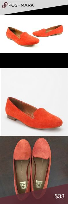 Dolce Vita Gilly Orange Suede Shoes 👠 Dolce Vita Gilly Orange (Blood/Sunset Orange) Suede Shoes. Purchased on Posh & listed as 9, but they don't fit me, so I'm wondering if they're really 8.5. They are super cute, and I wish they fit me! They're in fantastic condition. Let me know if you have questions, and don't hesitate to make me an offer (great deals on bundles)! Dolce Vita Shoes Flats & Loafers