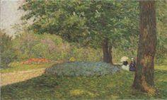 Conversation in the Park Henri Lebasque - 1898 oil on canvas