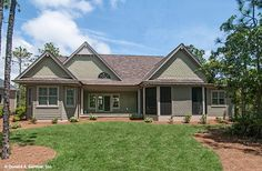 Beautiful Craftsman home plan with custom details inside and out! The Sagecrest 1226. #WeDesignDreams