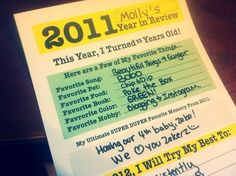 Free Printable - 2011 Year in Review and New Years Resolutions for kids. Simple new year's activity to help capture their favorite memories from the year! http://www.digitalmomblog.com/2011/12/30/new-years-resolution-year-review-printable/
