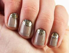 Taupe and glitter