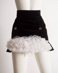 Vivienne Westwood black velvet mini skirt with crinoline, circa 1991 2