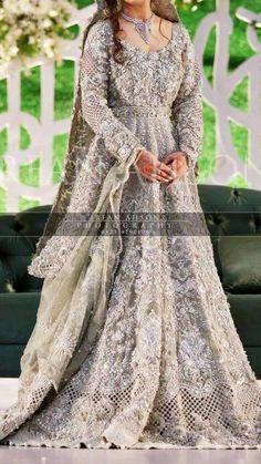 Pakistani bridal maxi in mint green color Model# W 834 Indian Wedding Party Dresses, Black Bridal Dresses, Asian Wedding Dress, Pakistani Wedding Outfits, Pakistani Wedding Dresses, Bridal Outfits, Wedding Hijab, Indian Dresses, Walima Dress