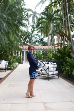 design darling navy tunic dress in palm beach