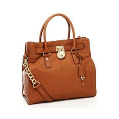Michael Kors Handbags Hamilton Large Tote Brown