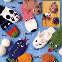 Knitting Patterns Mittens Puppet Mittens Knit ePattern – Kids will love acting out little skits with these ten knitted puppet … Knitted Mittens Pattern, Crochet Mittens, Baby Knitting Patterns, Knitting For Kids, Loom Knitting, Knitting Projects, Knitting Needles, Glove Puppets, Puppet Patterns