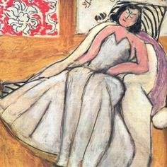 Girl with a fur coat by Henri Matisse, 1944, Private Collection
