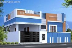 independent House and Villa sale in Coimbatore House Front Wall Design, House Balcony Design, Single Floor House Design, Village House Design, House Design Photos, Small House Design, Independent House, Front Elevation Designs, House Elevation