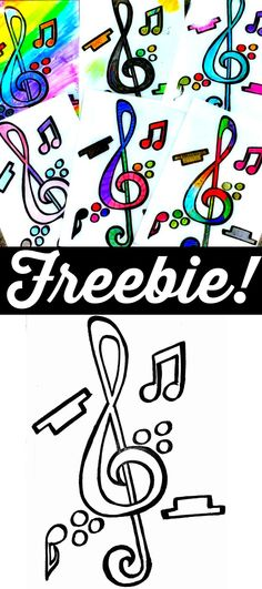 Music Coloring Page Freebie