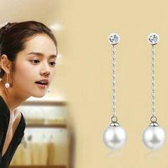 2014 Women Lady Korean Fashion Jewelry White Pearl Earrings Ear Stud Earrings in Jewelry & Watches | eBay