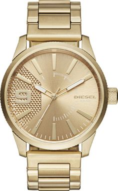 40ed7f460fbf Diesel Men s Rasp Gold Watch  Wear the ultimate expression of Diesel style  and design evolution on your wrist with the Rasp watch.