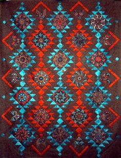 T-Jewels of the Southwest   by Linda Rotz Miller Quilts & Quilt Tops