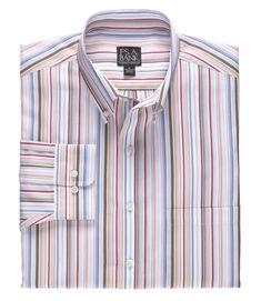 Traveler Long Sleeve Patterned Cotton Buttondown Sportshirt CLEARANCE