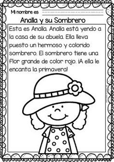 Easy Reading for Reading Comprehension in Spanish - The Spring Spanish Worksheets, Spanish Teaching Resources, Spanish Language Learning, Teaching Activities, Spanish Lessons, Learn Spanish, Spanish Games, Foreign Language, Learning Sight Words