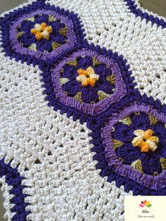 Tapete em barbante Inspirado no trabalho de Val Torres #crochet