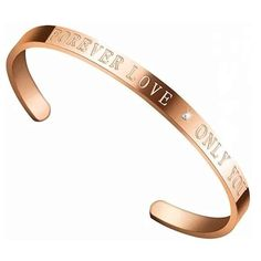 Forever Love Rose Gold Plated Cuff