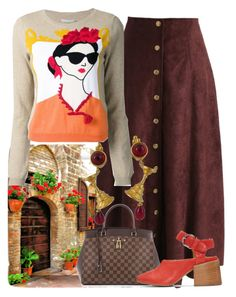 """""""Geranium Stroll"""" by easy-dressing ❤ liked on Polyvore featuring Chicwish, Alice + Olivia, Louis Vuitton, MM6 Maison Margiela and Karl Lagerfeld"""