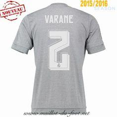 vente de Maillot de foot Real Madrid Varane 2 Exterieur 2015 2016 Thailande pas chere