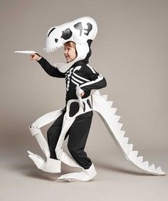 dinosaur skeleton boys costume