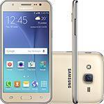 "Smartphone Samsung Galaxy J5 Duos Dual Chip Android 5.1 Tela 5"" 16GB 4G Wi-Fi Câmera 13MP - Dourado"