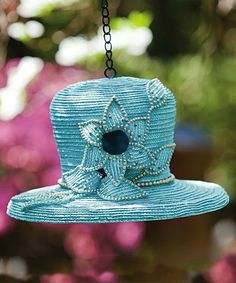 Take a look at this Dressy Hat Birdhouse by Evergreen on #zulily today!