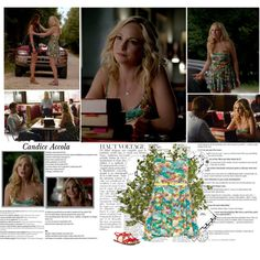 Candice Accola as Caroline Forbes [The Vampire Diaries 6x01 - I'll remember] by albacampbell on Polyvore featuring мода, Eight Sixty, Via Spiga, Tiny Om, HTC, Anja and Balmain